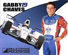 2016 GABBY CHAVES INDIANAPOLIS 500 PHOTO CARD POSTCARD INDY CAR BOY SCOUTS RACE