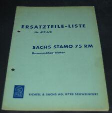 Ersatzteilliste Sachs Stamo Typ 75 RM Rasenmäher Motor Nr. 417.6/3