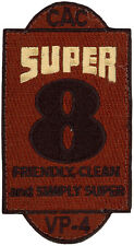 USN PATROL SQUADRON FOUR (VP-4) PATCH - COMBAT AIR CREW 8 - SUPER 8 - DESERT