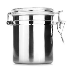 Stainless Steel Airtight Sealed Canister Coffee Flour Sugar Tea Container 1.26L