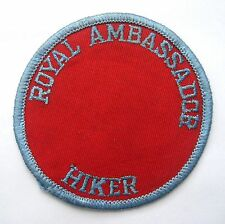 ROYAL AMBASSADOR HIKER EMBROIDERED SEW ON PATCH CLUB ASSOCIATION UNIFORM