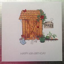 Personalised Handmade Card BIRTHDAY 50 60 70  DAD GRANDAD HUSBAND MALE Shed