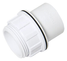 "FLOPLAST 40mm 1.1/2"" WHITE TANK CONNECTOR + WASHER ABS SOLVENT WASTE WELD SYSTEM"