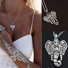vintage Fashion Elephant Womens New Silver pendant chain choker charm Necklace