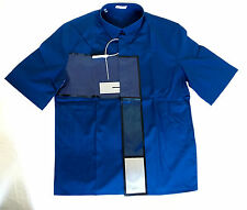 Authentic Dior Homme Spring 14 Runway Portrait Glossy Blue Shirt 38 Dead Stock!!