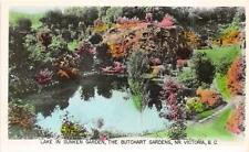 RPPC LAKE IN SUNKEN THE BUTCHART GARDENS VICTORIA BC CANADA REAL PHOTO POSTCARD