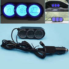 Dashboard LED Backlight Digital Display Temperature Thermometer Clock Sets Good