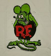 Rare Classic Rat Fink Ed Big Daddy Roth White T-shirt XL Brand New Rat Rod