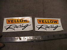 Lot of 2 Unused YELLOW Racing Stickers