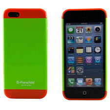 Apple iPhone 5 Neon Green and Orange Two Tone Pastel Hard Case Cover Shield Skin