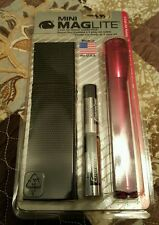 New mini Maglite 2 cell AA Holster combo pack with red flashlight