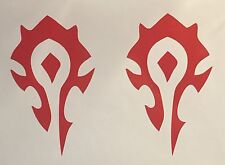 (2) HORDE World of Warcraft decal sticker wow video game Playstation Xbox