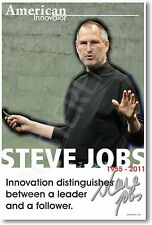 Steve Jobs - American Innovator Apple Founder iPhone NEW Classroom School POSTER