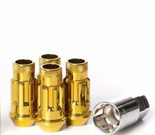 Muteki SR48 Open End Locking Lug Nuts in Gold Chrome 12x1.50 | 32902Z