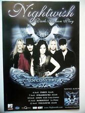 "PUBLICITE-ADVERTISING :  NIGHTWISH  2007 pour la tournée ""Dark Passion Play"""