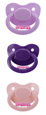 Adult Pacifier Triple Pack - Lavender, Purple & Baby Pink | Adult Baby ABDL DDLG