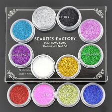 12X Fine Dust Glitter Nail Art Face Body Eye Shadow Craft Paint Iridescent #11