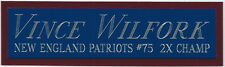 VINCE WILFORK NAMEPLATE FOR AUTOGRAPHED Signed HELMET-JERSEY-FOOTBALL-PHOTO CASE