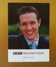 GENUINE AUTOGRAPHED PHOTO ~ POSTCARD SIZE ~ STEVE CLAMP [ BBC MIDLANDS TV ]