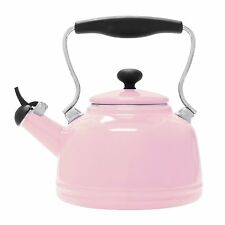 Chantal Enamel on Steel Vintage Teakettle 2 Qt, Pink