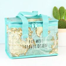 Lunch Bag Picnic Bag Shabby Chic VINTAGE MAP