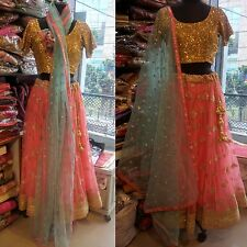 Wedding wear Lehenga Designer Indian Latest saree Bollywood lengha choli size 40