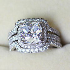4CT AUTH diamond ring engagement proposal wedding halo band SONA NSCD VVS1 BANDS