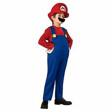 Super Mario Brothers Nintendo Video Game Boys Fancy Dress Party Costume Age 4-8