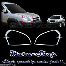 Chrome Headlight Lamp Cover Trim for 05~09 Hyundai Tucson