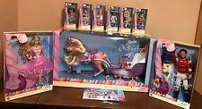 SEALED RARE COMPLETE Nutcracker Barbie Set Sugarplum Eric Kelly Tommy Sleigh