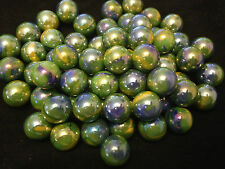 10 x 16mm Peacock HOM Glass Marbles Collectors or traditional game solitai