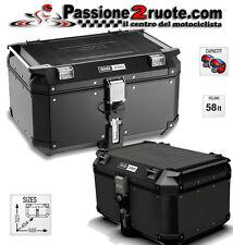 Valigia posteriore alluminio nero Givi Outback 58lt Obk58b bauletto moto monokey