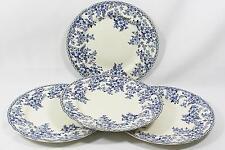 Johnson Bros Devon Cottage Blue Floral Porcelain Dinner Plates Set of Four New