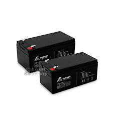 12V 3.3AH SLA Battery replaces PE12V3AF1 PS-1230 UB1234 WP3-12 Pack of 2