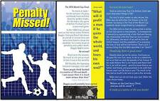 """A PENALTY MISSED"" FOOTBALL GOSPEL TRACT LEAFLET x 100"