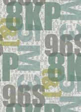 Jugendzimmer Vlies Tapete Make Up'16 Erismann 6963-18 Schrift Buchstaben Grün
