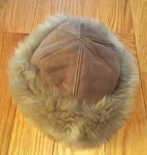 Women's Genuine Sheepskin Shearling, Lamb Fur Winter Hat. Bloomingdales. Italy