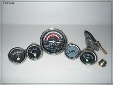 David-Brown-Tractor-Tachometer-Tempe-Oil-Pressure-Ammeter-Fuel-Gauge