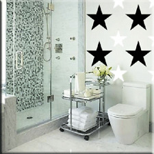 50 Asst Stars Vinyl Wall Decor Stickers One Color
