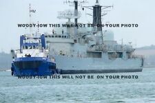 mp158 - UK Royal Navy Warship - HMS Exeter off to breakers  - photo 6x4