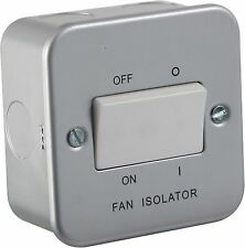 10A 1G Triple Pole 230V Metal Clad Fan Isolator Switch for Hotels & Businesses