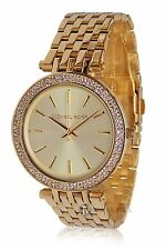 BRAND NEW WOMENS MICHAEL KORS (MK3191) DARCI GOLD TONE MESH WATCH