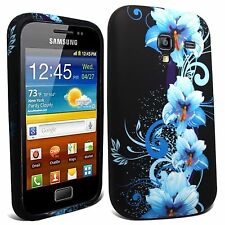 Elegante in Silicone Gel Custodia Cover Pelle per Samsung GT-I8160 Galaxy Ace 2 + SP