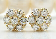 1.10CTW Natural VS2 / F-G Diamonds in 14K Solid Yellow Gold Stud Earrings