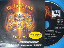 CD MOTORHEAD LIFE'S A BITCH SEPULTURA MONSTER MAGNET ICED EARTH PROMOTIONAL