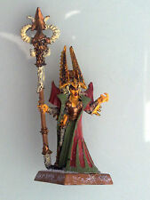 Warhammer Dark Elves - Sorceress with Skull Staff Metal DE06b
