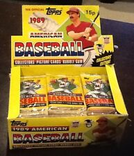 1989 TOPPS UK Baseball WAX BOX 48 UNOPENED Packs old VERY RARE!!