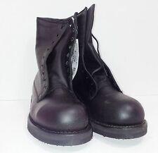"US ARMY Addison Military Safety Toe 8"" USA LEATHER BOOT  COMPARE DR MARTENS 1919"