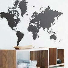 Hot Creative Home Decor World Map Wall Sticker Removable Vinyl Mural Wall Papers