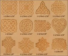 Craftool Celtic 3-D Stamp Set 13 Piece  Tandy Leather 8161-00